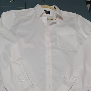 NORDSTROM, MEN'S WHITE DRESS SHIRT.16 1/2, 36 37
